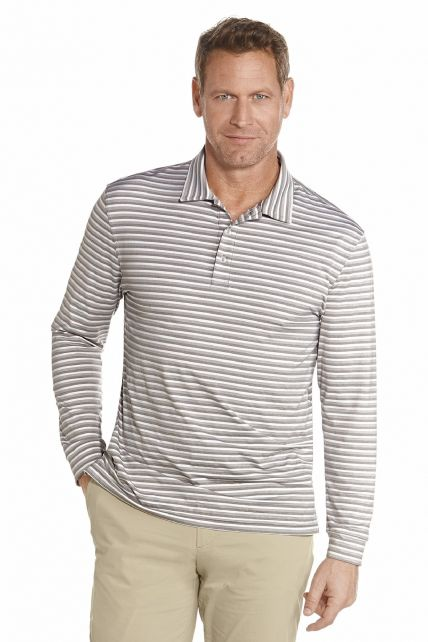 Coolibar---Long-Sleeve-Golf-Polo---Light-Grey-stripe