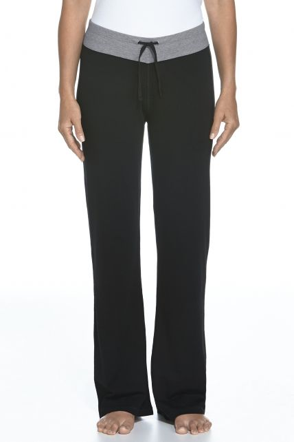 Coolibar---UPF-50+-Women's-Lakefront-Pants---Black/Grey-Heather