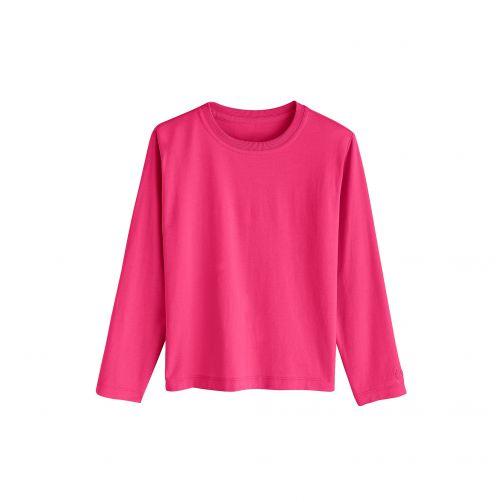 Coolibar---UV-shirt-for-kids---magenta-(purple/red)