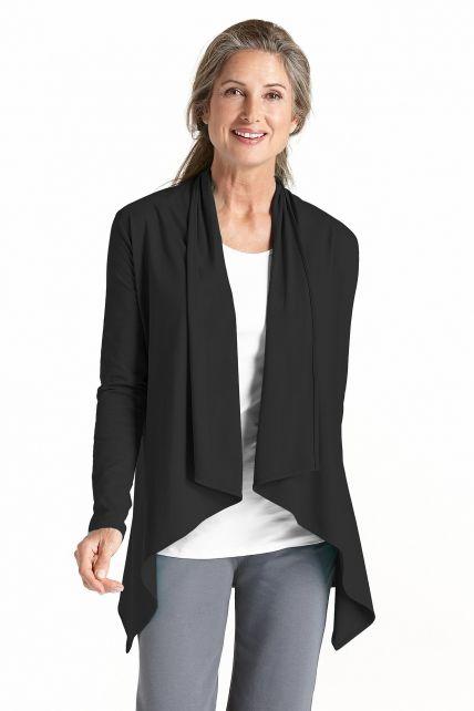 Coolibar---UV-Sun-Wrap-Vest-for-women---Marietas---Black