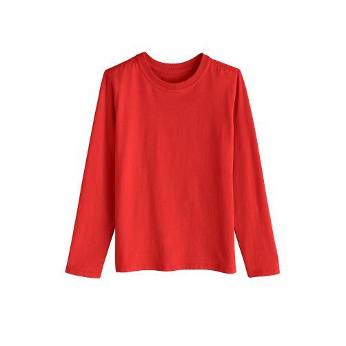 Coolibar---UV-shirt-for-children-longsleeve---Tropical-red