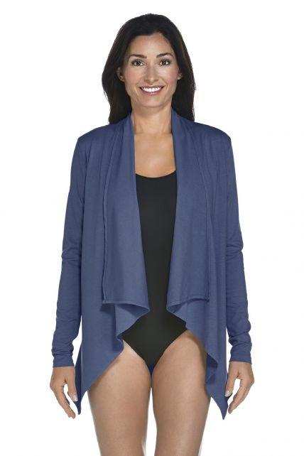 Coolibar---UV-Vest-women---Dark-Blue