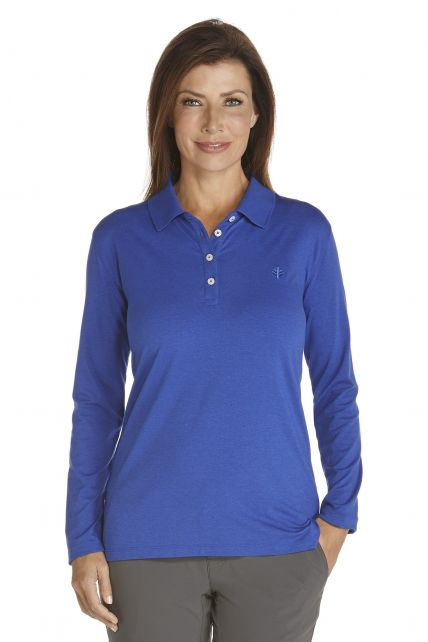 Coolibar---Sport-UV-Polo---royal-blue