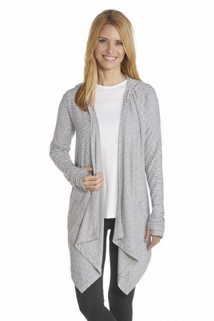 Coolibar---UV-asymmetric-vest-women---Black/White