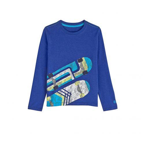 Coolibar---UV-shirt-for-children-longsleeve---Sailor-blue