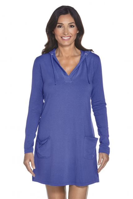 Coolibar---UPF-50+-Women's-Poolside-Cover-Up-Hoodie---Empire-Blue