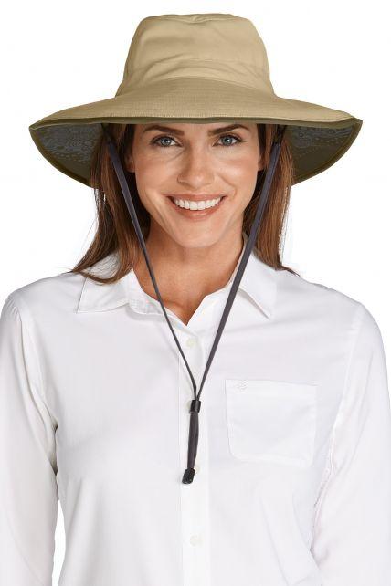 Coolibar---Chlorine-Resistant-UV-Bucket-Hat---kaki