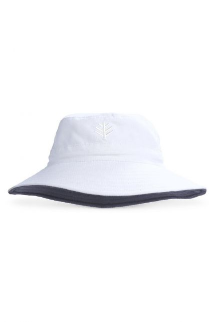 Coolibar---UV-bucket-hat-for-children---White-/-carbon-grey