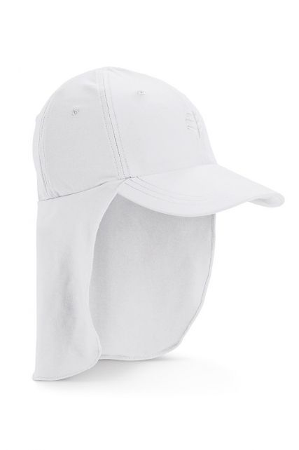 Coolibar---UV-Sport-Cap-with-neck-cover-for-kids---Surfs-Up---White