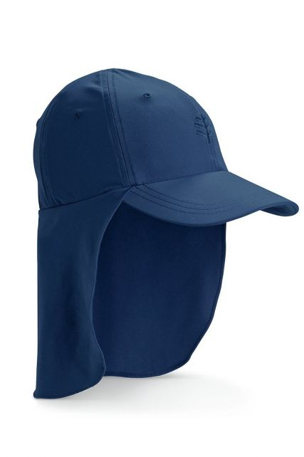 Coolibar---UV-Sport-Cap-with-neck-cover-for-kids---Surfs-Up---Navy