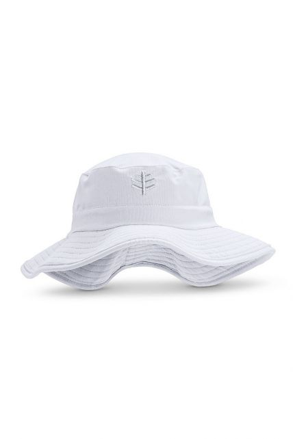 Coolibar---UV-Bucket-hat-with-wide-brim-for-kids---Surfs-Up---White