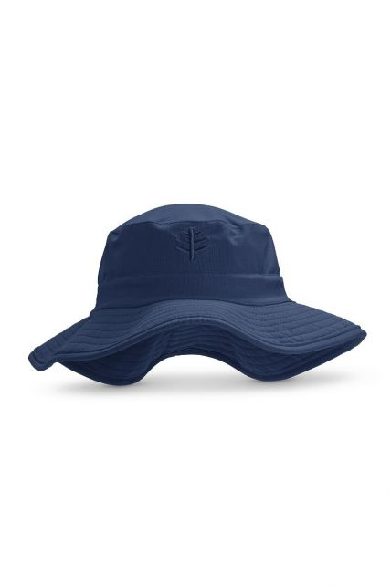 Coolibar---UV-Bucket-hat-with-wide-brim-for-kids---Surfs-Up---Navy