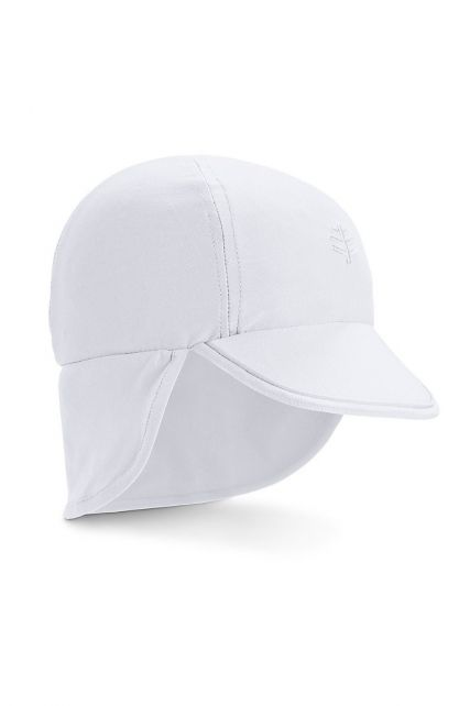 Coolibar---UV-sun-cap-for-babies-with-neck-flap---White