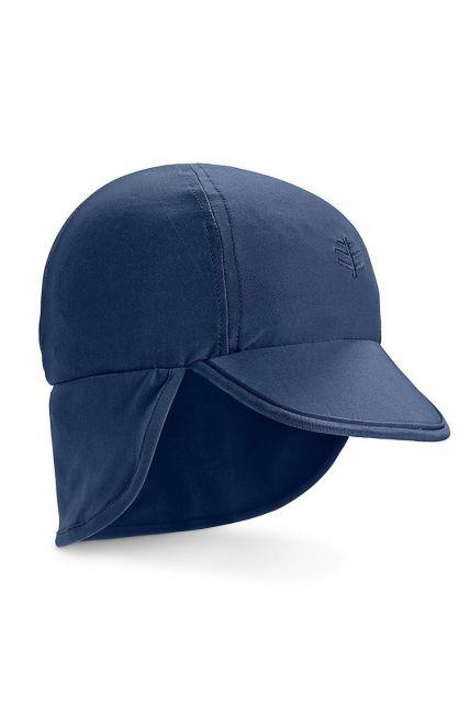 Coolibar---UV-sun-cap-for-babies-with-neck-flap---Navy-blue