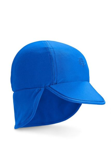 Coolibar---UV-sun-cap-for-babies-with-neck-flap---Blue-Wave