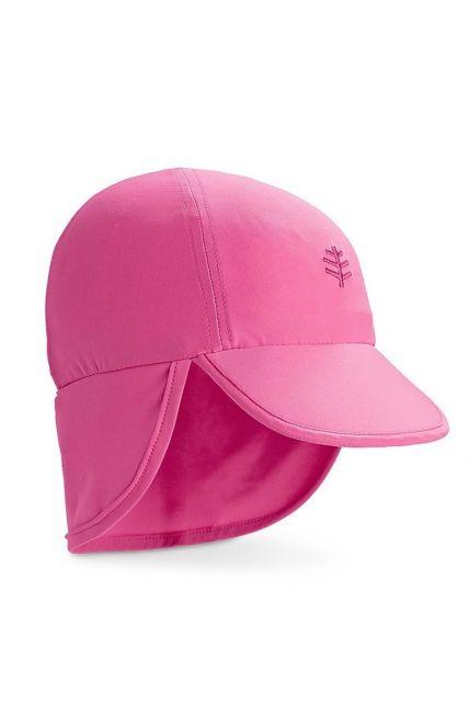 Coolibar---UV-sun-cap-for-babies-with-neck-flap---Aloha-pink