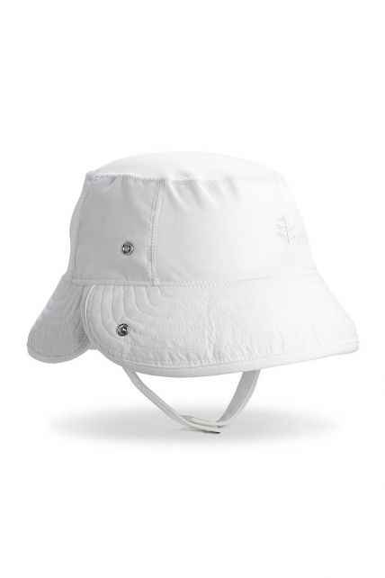 Coolibar---UV-Bucket-hat-for-babies---Linden---White