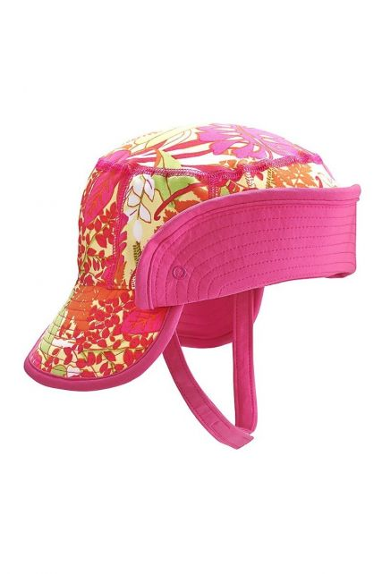 Coolibar---UV-bucket-for-babies-with-folding-brim---Tropical-pink
