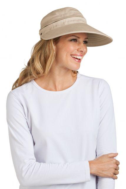 Coolibar---Zip-Off-Sun-UV-visor---Beige