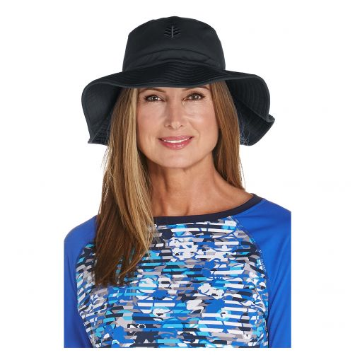 Coolibar---UV-floppy-hat-for-women---Black