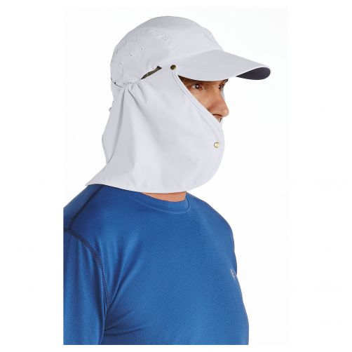 Coolibar---UV-sun-cap-for-men-with-neck-flap---White-/-navy-blue