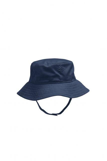 Coolibar---UPF-50+-Baby-Girl's-Chin-Strap-Hat---Blue