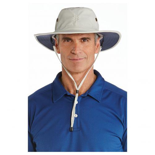 Coolibar---UV-sun-hat-for-men---Beige-/-navy-blue