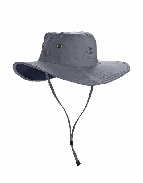 Coolibar---Shapeable-Wide-Brim-UV-Hat-for-men---Leo---Carbon/Black