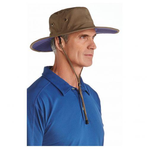 Coolibar---UV-sun-hat-for-men---Khaki-/-navy-blue