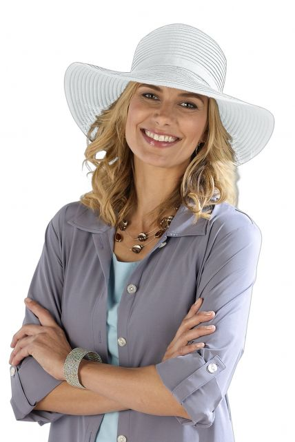 Coolibar---Shapeable-Travel-UV-Sun-Hat---White