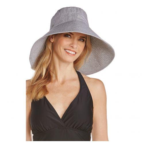 Coolibar---UV-hat-for-ladies---black-white-striped