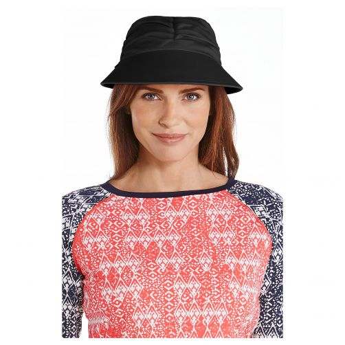 Coolibar---UV-sun-visor-for-women---Black