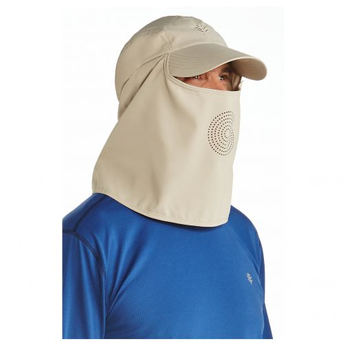 Coolibar---UV-Sport-Cap-with-neck-and-face-cover-for-men---Logan---Tan
