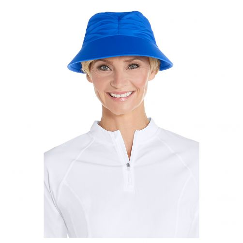 Coolibar---UV-sun-visor-for-women---Baja-blue