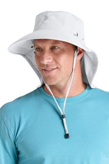 Coolibar---UPF-50+-Men's-Ultra-Sun-Hat---White