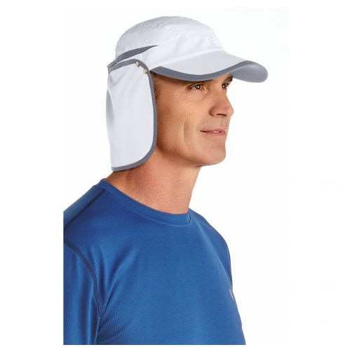 Coolibar---UV-sun-cap-unisex--White-/-carbon-grey