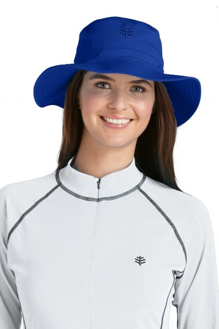 Coolibar---UV-bucket-hat-unisex---Cobalt-blue