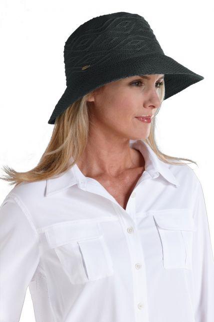 Coolibar---Packable-UV-Beach-Bucket-Hat---Black