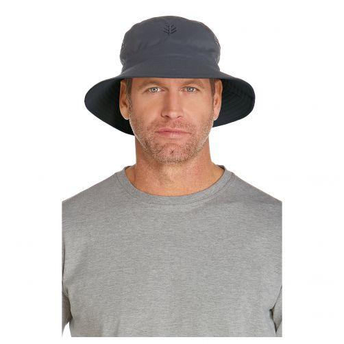 Coolibar---UV-bucket-hat-for-men---Stone-grey-/-Carbon-grey