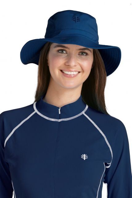 Coolibar---UV-bucket-hat-unisex---Navy