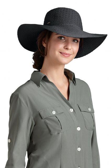 Coolibar---UPF-50+-Women's-Packable-Wide-Brim-Sun-Hat--Black