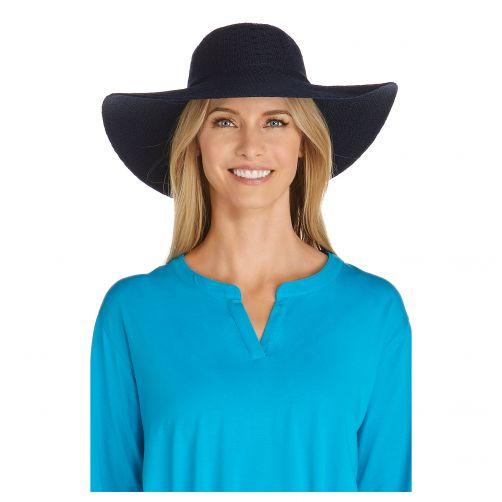 Coolibar---UV-sun-hat-for-women---Navy-blue