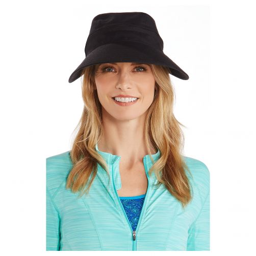 Coolibar---UV-sun-visor-for-women---Zip-off---Black