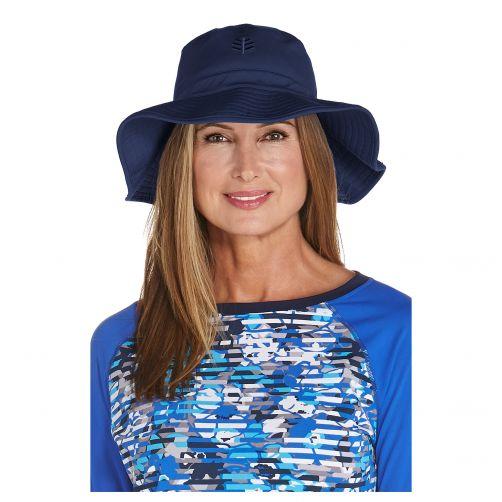 Coolibar---UV-floppy-hat-for-women---Navy-blue
