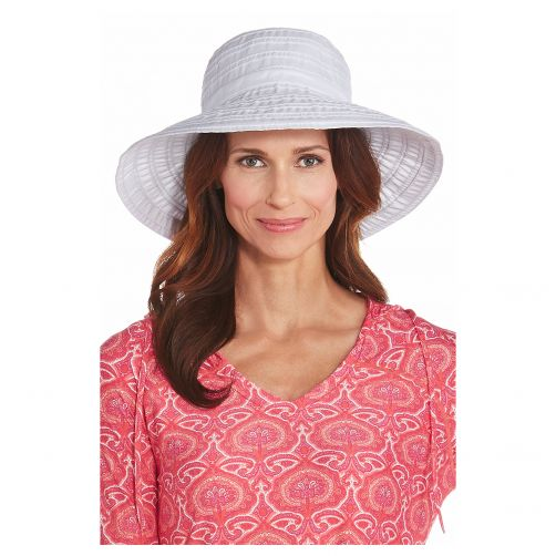 Coolibar---UV-floppy-hat-for-women-with-ribbons---White