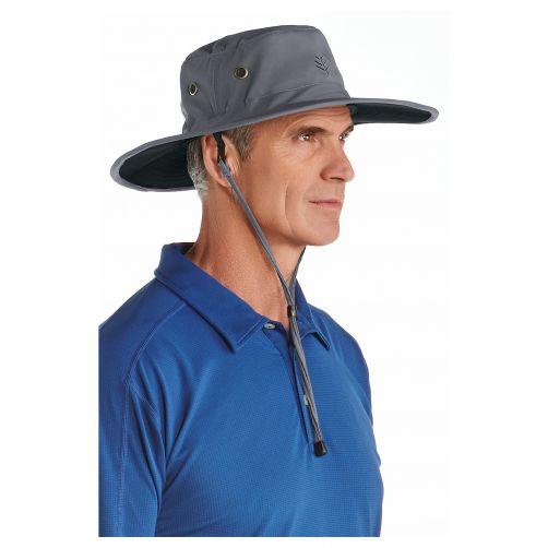 Coolibar---UV-sun-hat-for-men---Carbon-grey-/-black