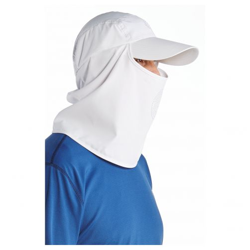 Coolibar---UV-sun-cap-with-neck-and-face-cover---White