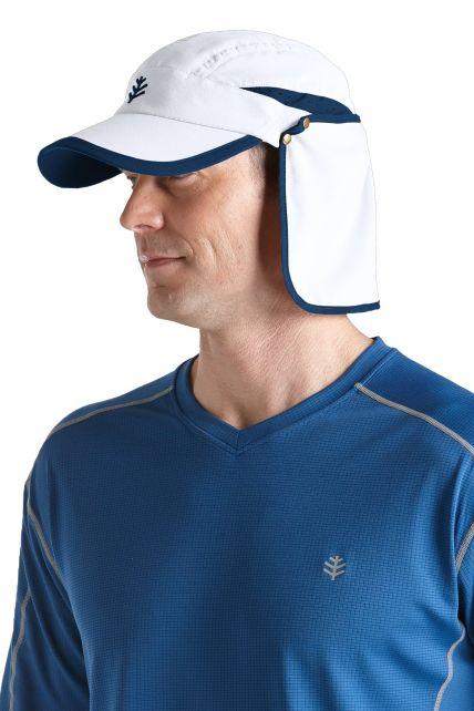 Coolibar---Sun-Breaker-Running-Cap--White