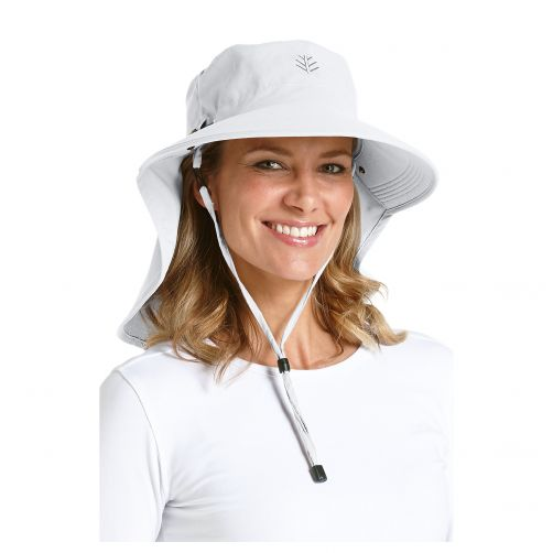 Coolibar---UV-sun-hat-for-women-with-neck-/-face-drape---White
