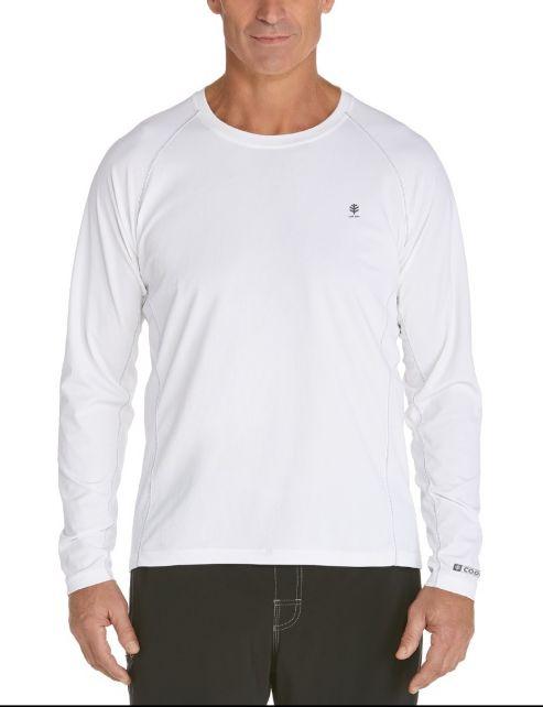 Coolibar---Men's-Long-Sleeve-Swim-Shirts---white